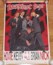 "The Backstreet Boys 1996 used HUGE WALL POSTER 22""x32"" band photo NICK CARTER"