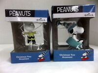 Hallmark Peanuts PAIR of Snoopy & Charlie Brown Tree Ornaments Collect