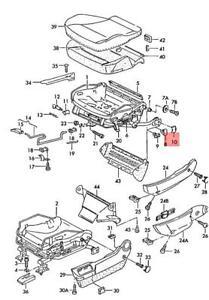 Genuine AUDI 100 Avant quattro 200 5000 80 90 RS2 A4 S4 glide piece 893881203A