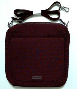 NWT Vera Bradley Carson Mailbag Crossbody in Mulled Wine Microfiber