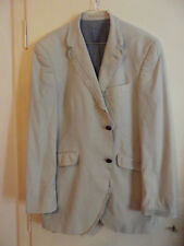 HOLLAND ESQUIRE Striped Men's Jacket # Size EUR 50 # Off-White # Spring/Summer