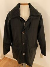 Milestone Germany Black Waterprrof Canvas Cargo Coat Mens 56 Zip Liner Brisbane