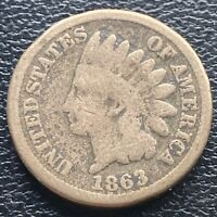 1863 Indian Head Cent 1c One Penny Circulated #23618