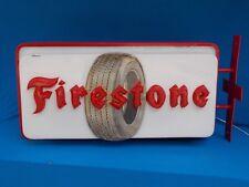 antique original 1950's Firestone lighted sign tires service