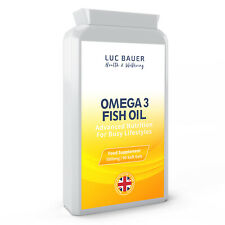 Omega 3 Fish Oil 1000mg - 90 Softgels. Made in Great Britain.