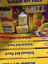 New 6X Playskool School Supplies Art Activity Pack 112 pc Set Markers Watercolor