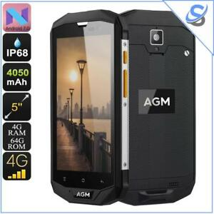 """AGM A8 Rugged Smartphone Android 7.0 Dual IMEI 4G Quad-Core CPU 4GB RAM 5"""" IPS"""