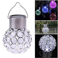 Solar Ball Garden Hanging Outdoor Landscape LED Lamp Color Change Yard Light New