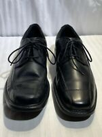 Clarks 71729 Men's Lace-Up Black Leather Bicycle Toe Dress Oxfords Shoes 11.5M