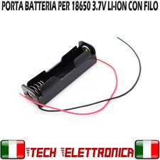 Porta Batteria 3.7V Li-ion Portapila Battery Holder 18650