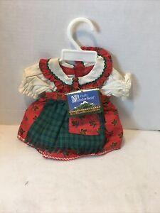 Vtg '92 Vanderbear Wear Fluffy bear Eine Kleine Mountain Climbin Outfit W/O Hat
