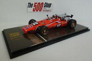 Mario Andretti #2 STP Brawner Hawk Ford 1969 Indy 500 Winner Diecast Spark 1:43