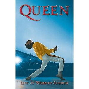 Queen (Freddie) Live at Wembley large fabric poster / flag 1100mm x 700mm (rz)