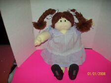 SOFT SCULPTURE CABBAGE PATCH KID GIRL   198?  redbrown braids