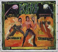 Kiss Pinball Painting on Cardboard John Kilduff