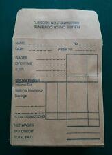 100 x Wage WAGES Envelopes 92x112mm Plain Manilla PEAL SEAL Pk 100