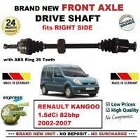 Pour Renault Kangoo 1.5dCi 82bhp 2002-2007 Tout Neuf Essieu avant Droit Arbre D