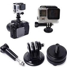 1/4 Tripod Adapter + Flash Hot Shoe Mount + Screw for GoPro 2 3 3+ 4 5 DSLR Cam