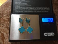 18k gold and Turquoise earring