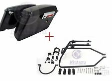 04 & Up Sportster Saddlebag Conversion Brackets + Mutazu Hard Touring Saddlebags