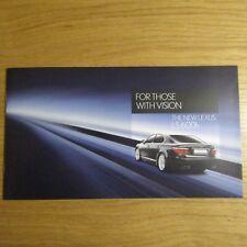LEXUS LS600 LS600h 5.0 V8 Hybrid Saloon UK Market Sales Brochure 2006-2007