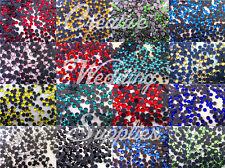 Bulk DMC Hotfix Rhinestone Crystals Iron On Flatback Glass Assorted Size Colour