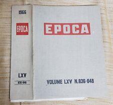 COPERTINA IN TELA PER RILEGARE RIVISTE EPOCA- ANNO 1966 DAL N. 836 AL N.848