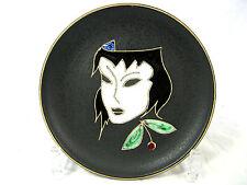 """50 ´s design Ruscha Keramik  wall plate Wandteller  """" Maske""""  717 / 0  14 cm"""
