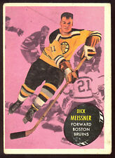 1961 62 TOPPS #6 DICK MEISSNER VG-EX BRUINS BOSTON HOCKEY FREE SHIP TO USA