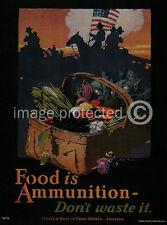 Food Ammunition World War I US Military Vintage 11x17 Poster