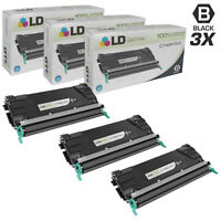 LD Remanufactured Lexmark C746H1KG 3PK HY Black Toners for C746/C748 Series
