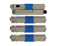 Compatible OKI 4 Color Toner Set for C332dn C332 MC363dn MC363 - 4 Pack (KCMY)