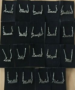 Personalised Name Necklace - Silver with Organza Gift Bag