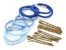 Zest capelli bande e accessori per capelli Grip Set Blu & Blu Cielo