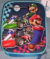 MARIO KART Wii NeW Insulated Blue Lunchbox LUIGI Boy's Lunch Box Tote Bag NWT
