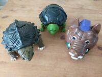 Teenage Mutant Ninja Turtles Tmnt Mini Mutants Playset Lot Incomplete