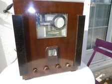 Poste radio secteur ancien à lampes  caisse bois marque SU GA SUPER635