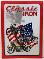 American Classic Iron Motorcycle Metal Sign