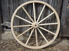 "Wagon Wheels For Sale. 36"" Tall. 2"" Wide. High quality wooden wagon wheels."