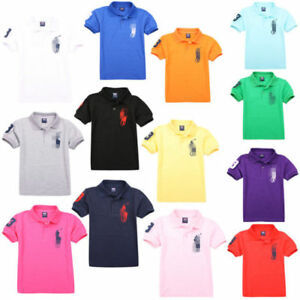 Summe Kids' Boys Girls Comfortable mesh Short-sleeved T-shirt 13 Color 2-13Y NEW