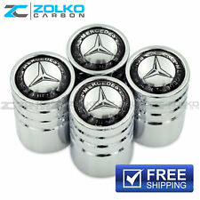 MERCEDES-BENZ VALVE STEM CAPS WHEEL TIRE CHROME - US SELLER VE02