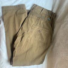 Men's Alpha Industries Sz 32x30 Survivor Cargo Pants Flat Front Almond Brown