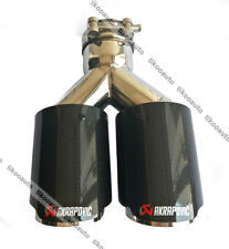 "Ak Exhaust Glossy Carbon Fiber Dual Exhaust Tip ID:3"" 76mm OD:4"" 101mm 1 X"