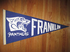 """Vintage 70s Franklin High School Panthers 30"""" Pennant"""