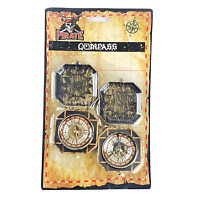 PIRATE COMPASS PACK OF 2 PARTY FAVOR SUPPLIES