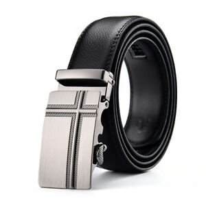 Men Luxury Business Genuine Belt Automatic Buckle Leather Belts Strap Male