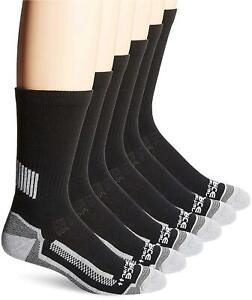 Carhartt Men's Force Performance Work Crew Socks (3/6 Packs),, Black, Size 6.0 i