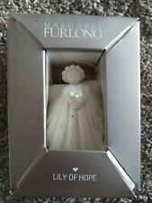 "Margaret Furlong Lily of Hope Angel 3"" Porcelain Ornament & Eisel - New In Box!"