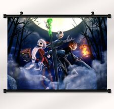 "The Nightmare Before Christmas Fabric poster with wall scroll 22"" x 16"" Decor 09"