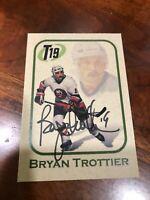 Bryan Trottier Autographed Hand Signed Card Big Bold Signature Islanders HOF